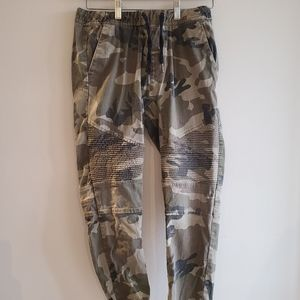 West 49, camouflage jogger pants.